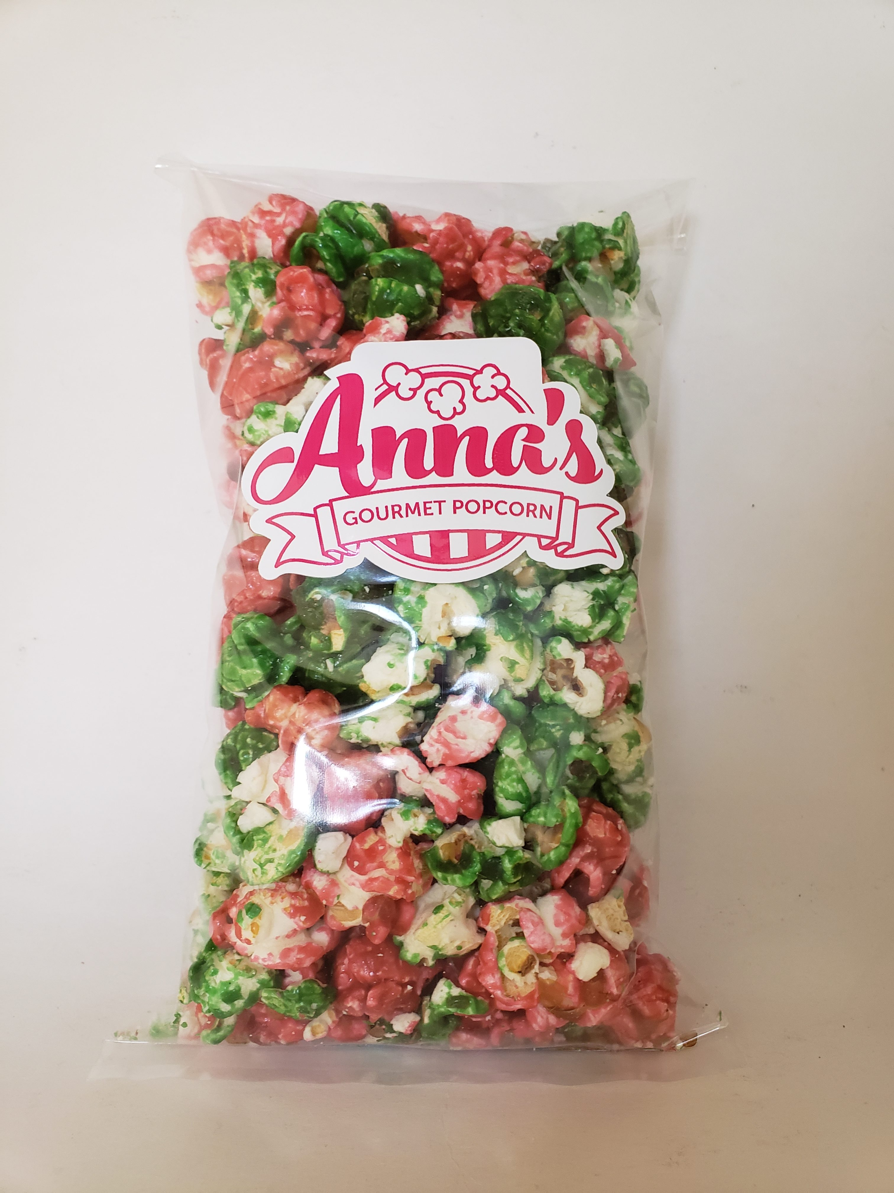 Anna's Gourmet Holiday Red & Green Popcorn