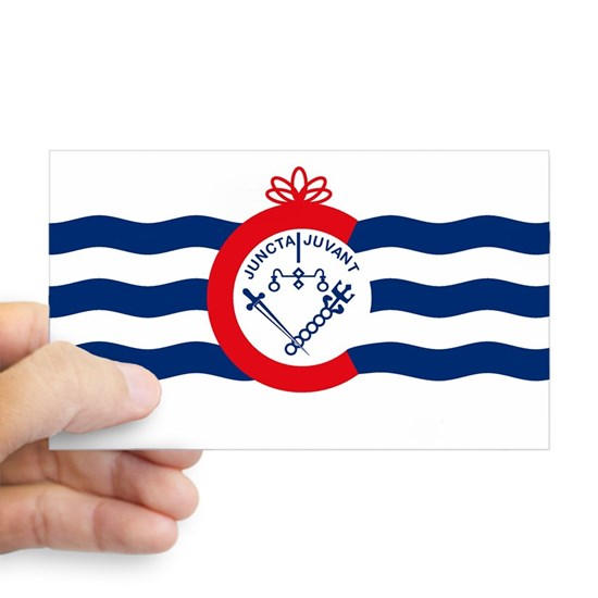 Cincinnati Flag Sticker