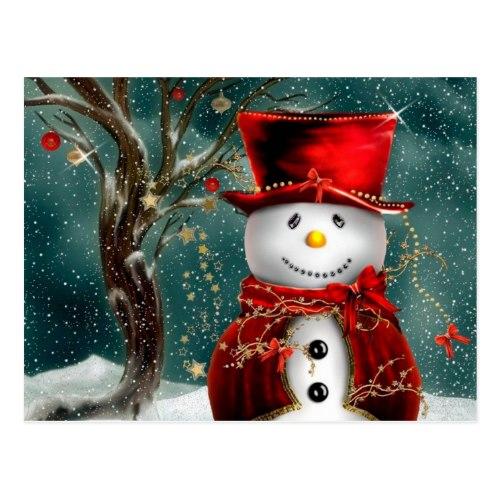 Snowman illustration Postcard